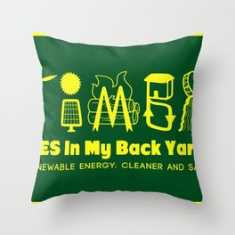 Yes In My Back Yard! Throw Pillow