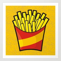 french fries Art Prints featuring French Fries by Sifis