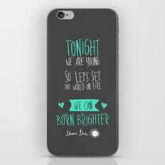 Tonight. iPhone & iPod Skin