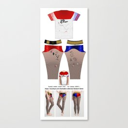 Harley Quinn Suicide Squad Leggings and Shirt V1 Canvas Print
