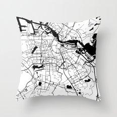 Amsterdam Minimal Map Throw Pillow