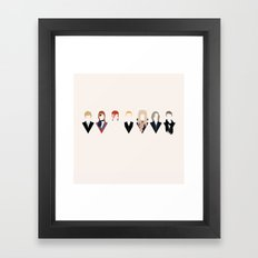 Bowie Tribute Framed Art Print