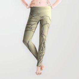 """Egon Schiele """"Girl Bending Forward, Back View"""" Leggings"""