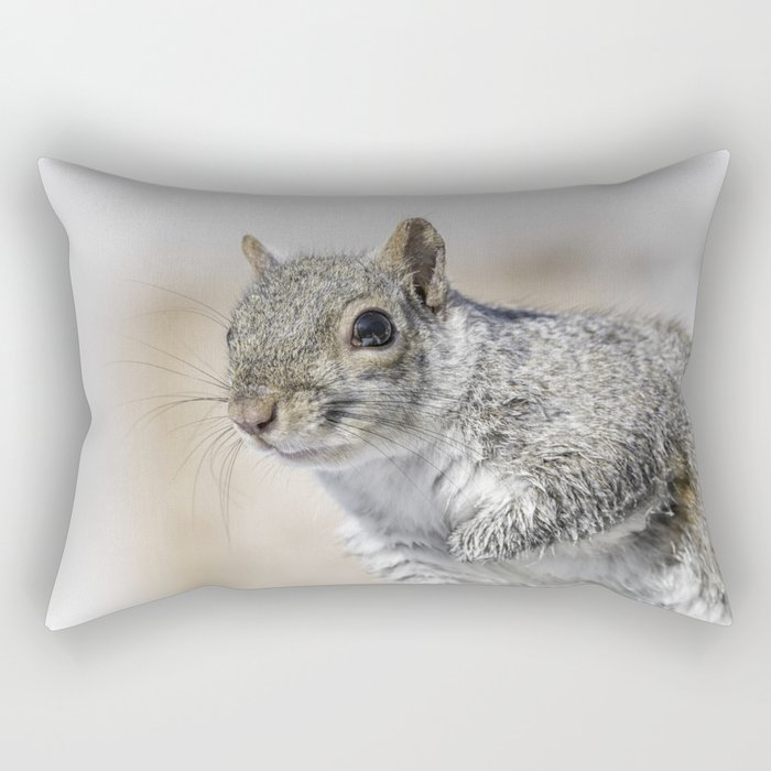 Wet paw Squirrel Rectangular Pillow