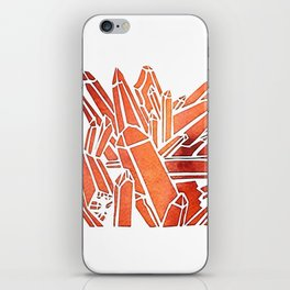 Tangerine Quartz iPhone Skin