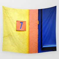 number Wall Tapestries featuring Lucky Number by ExperienceTheFrenchRiviera