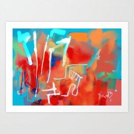 Blue Neon Art Print