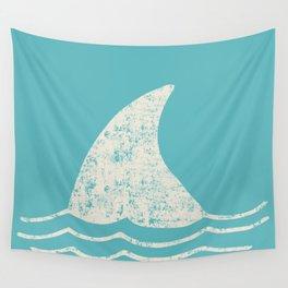 Beach Series Aqua - Shark Animal in the deep See Wall Tapestry