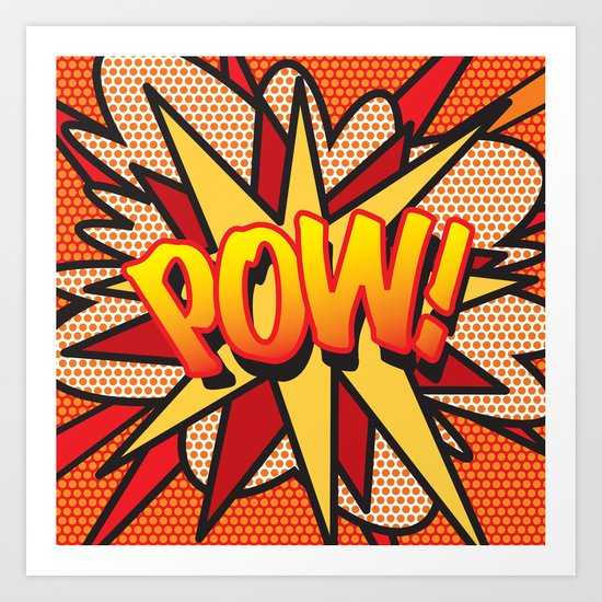 POW Comic Book Pop Art Cool Superhero Graphic by theimagezone