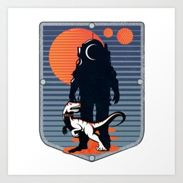 The Astronaut's Pet Art Print