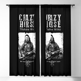 Crazy Horse-Lakota Chief-Warrior-Sioux-Indian-History Blackout Curtain