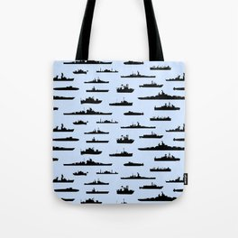 Battleship // Light Blue Tote Bag