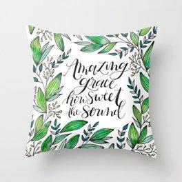 Amazing Grace Throw Pillow