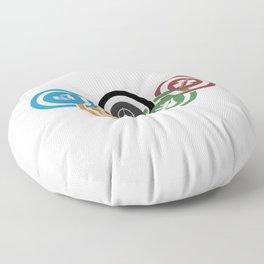 Zombie rings! Floor Pillow