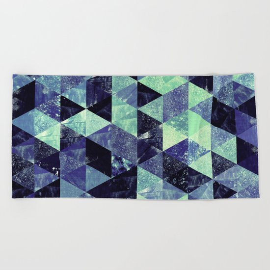 Abstract Geometric Background #6 Beach Towel