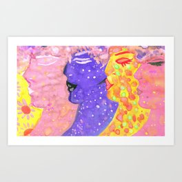 Nymphs Folk Art By AnyaC Art Print