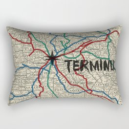 Terminus Map Rectangular Pillow