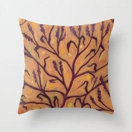 Sand Flower / Water Pepper Throw Pillow