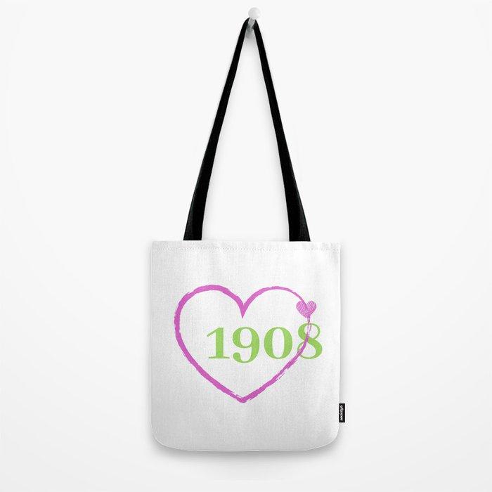 1908 Heart Tote Bag