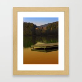 Romantic evening at the lake V | waterscape photography Framed Art Print