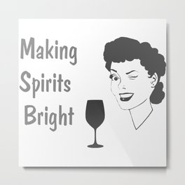 Making Spirits Bright Holiday Metal Print
