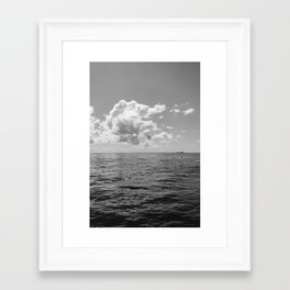 Monochrome Ocean View II Framed Art Print