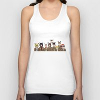 levi Tank Tops featuring Christmas with Squad Levi 2.0 by PaigeAWArt