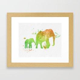 Elephants 020 Framed Art Print