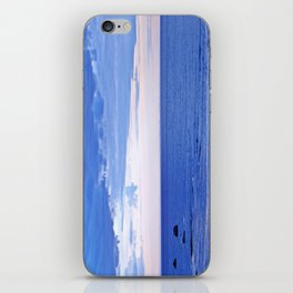 Blue on Blue at the River Mouth iPhone Skin