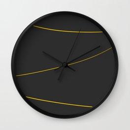 Gold Strings Wall Clock