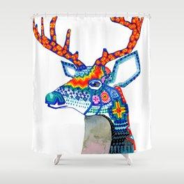 Venado Huichol Shower Curtain