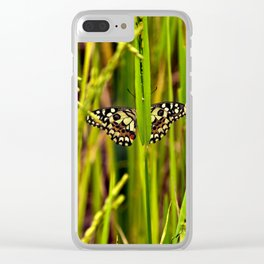 Butterfly in rice Clear iPhone Case