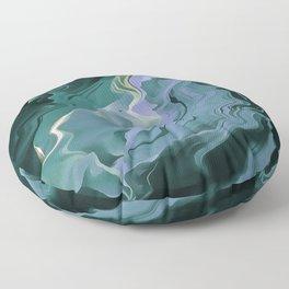 Teal Turbulence Floor Pillow