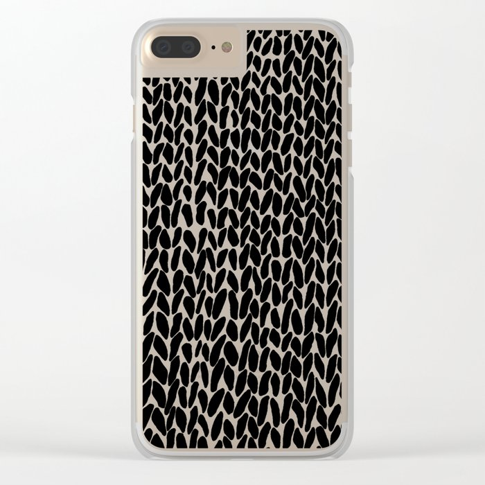Hand Knitted Black S Clear iPhone Case