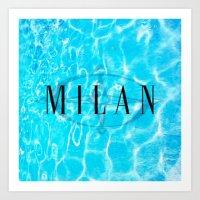 milan Art Prints featuring Milan by Liz Guhl @lizaguhl