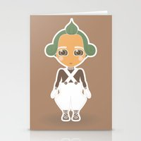 willy wonka Stationery Cards featuring Willy Wonka by Ricky Kwong