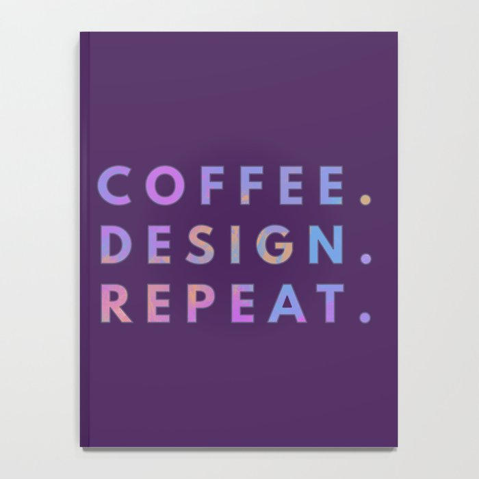 Coffee Design Repeat Notebook