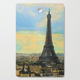 Watercolor Dream of Paris Cutting Board