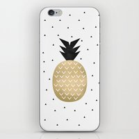 pineapple iPhone & iPod Skins featuring Pineapple by Elisabeth Fredriksson