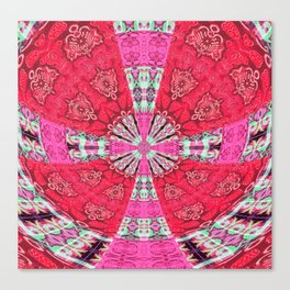 Gothic Power Cross Canvas Print
