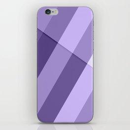 Ultra violet purple modern geometric lines iPhone Skin
