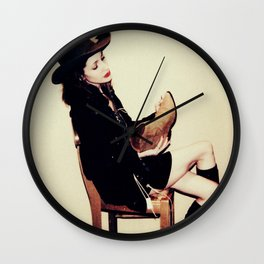 High Contrast Cowgirl Wall Clock
