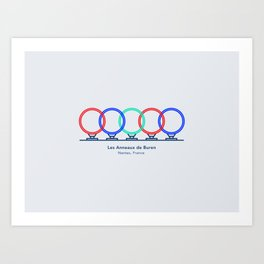 Nantes city - Buren's rings Art Print