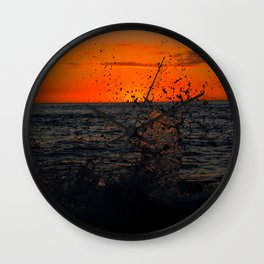 Sunset Splash Kona Wall Clock