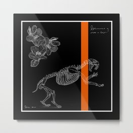 cute bones, tiger skeleton Metal Print