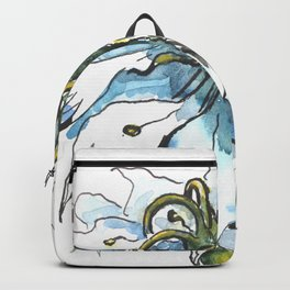 Nigella watercolor beautiful flower, nature Backpack