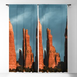 Sedona Vortex - Chimney Rock Desert Photography Blackout Curtain