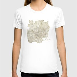 Jackson Mississippi watercolor city map T-shirt
