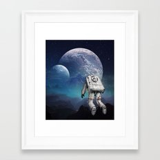 Searching Home Framed Art Print