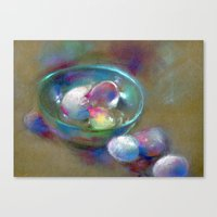 eggs Canvas Prints featuring Eggs by Adriangiulianipastels